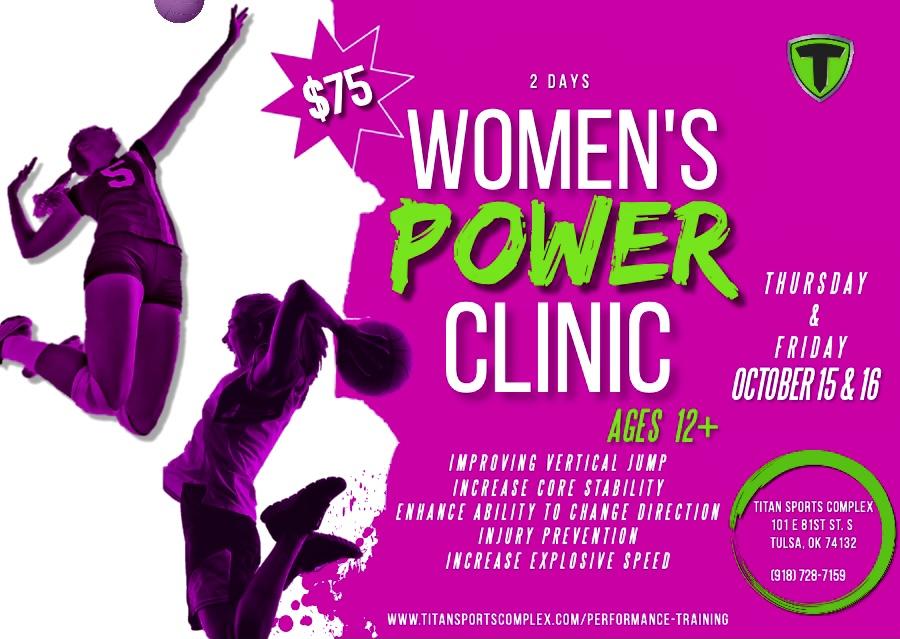 Fall Break Sports Performance Camp: Speed Camp & Women's Power Clinic