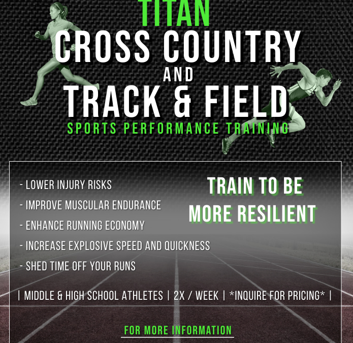 XC & Track Middle/HS Athletes Need Strength Training