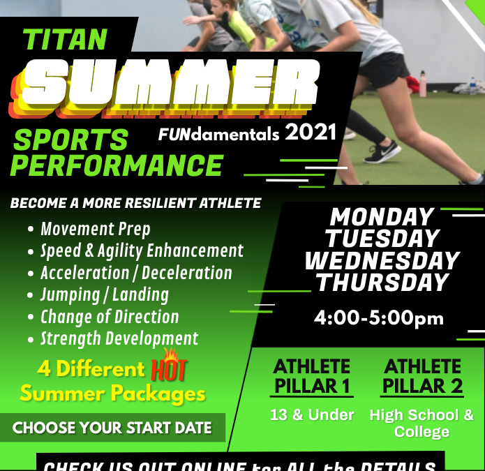 Summer Sports Performance Training. Come Train Where the Pros Train